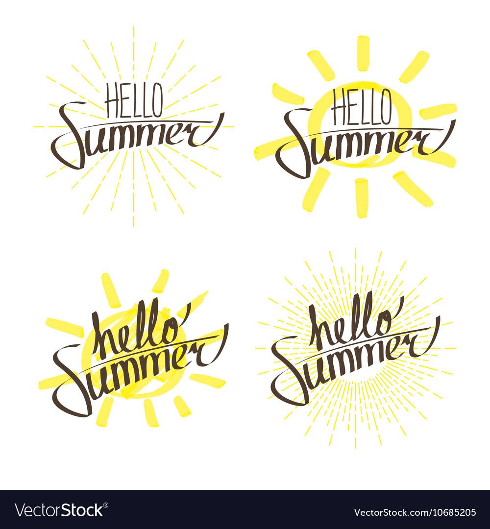 Hello Summer Letterings Set