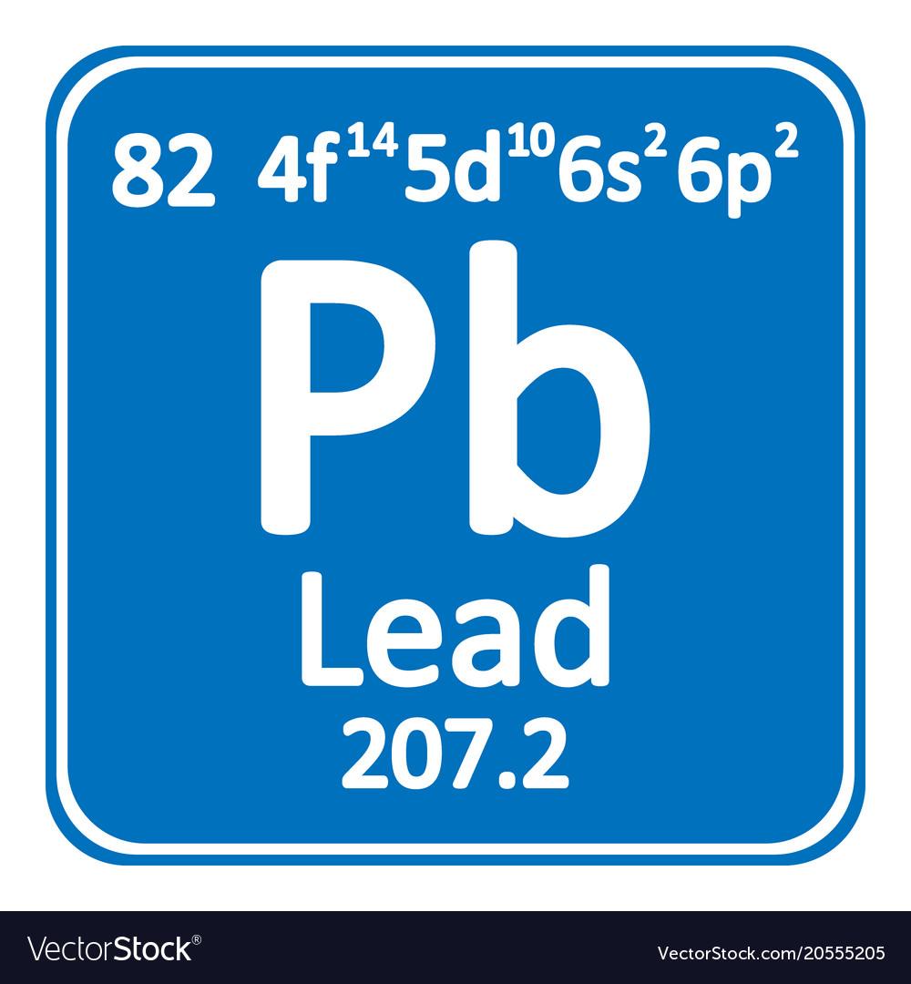Periodic table element lead icon royalty free vector image periodic table element lead icon vector image urtaz Choice Image