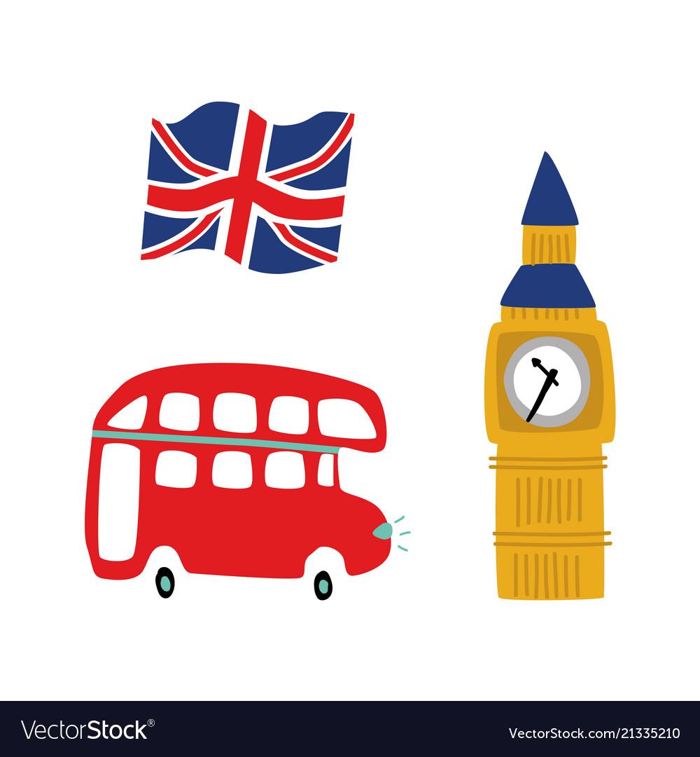 British symbols icon set