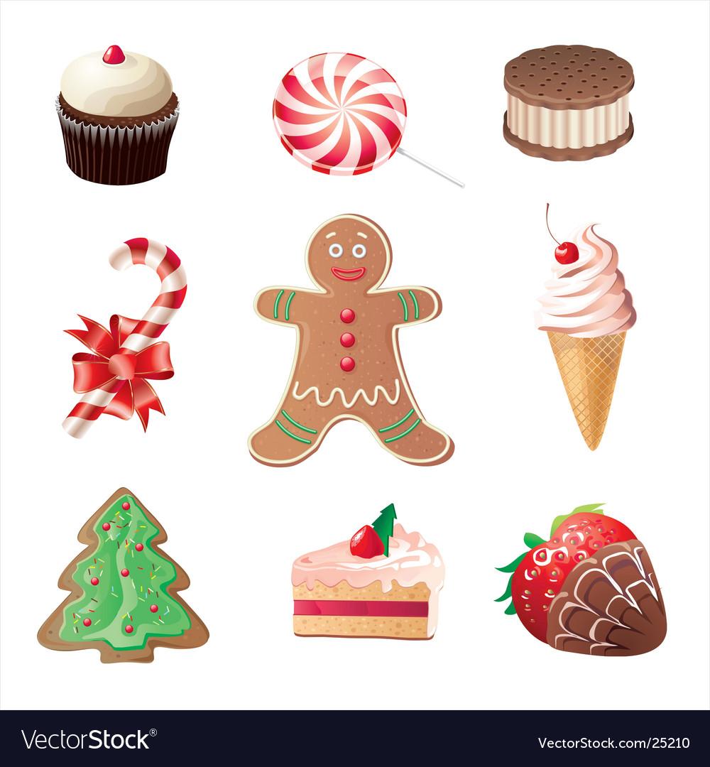 Christmas Sweets.Christmas Sweets Icons Set