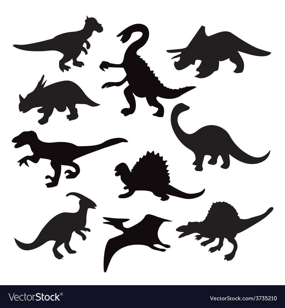 Dino Animal Dinosaur Silhouette Royalty Free Vector Image Here you can explore hq dinosaur silhouette transparent illustrations, icons and clipart with filter setting like size, type, color etc. vectorstock