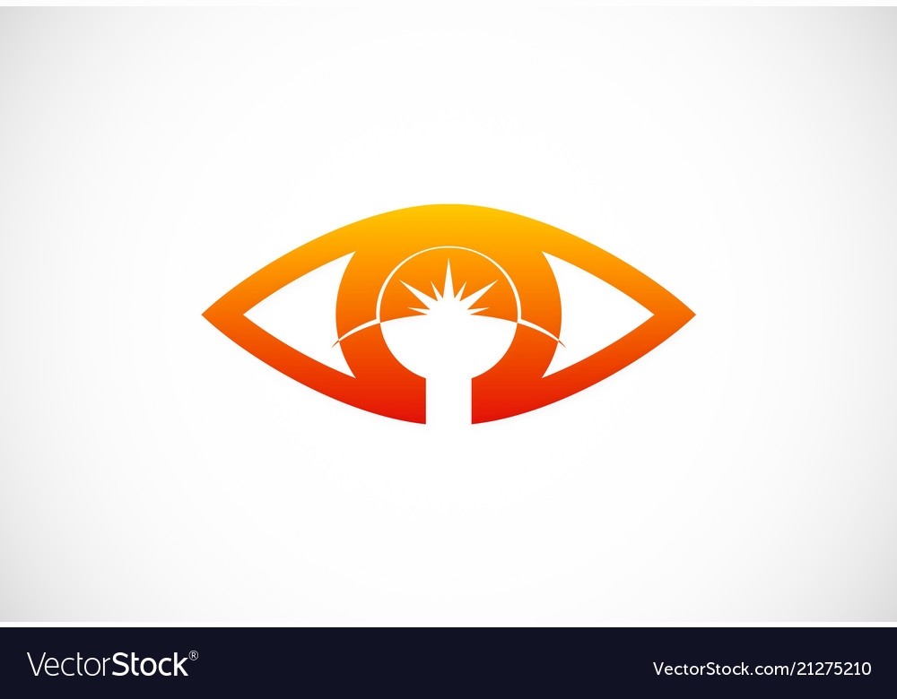 Eye abstract optic logo