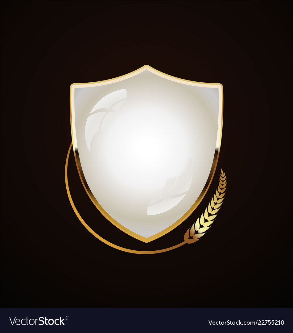 Golden shield retro design