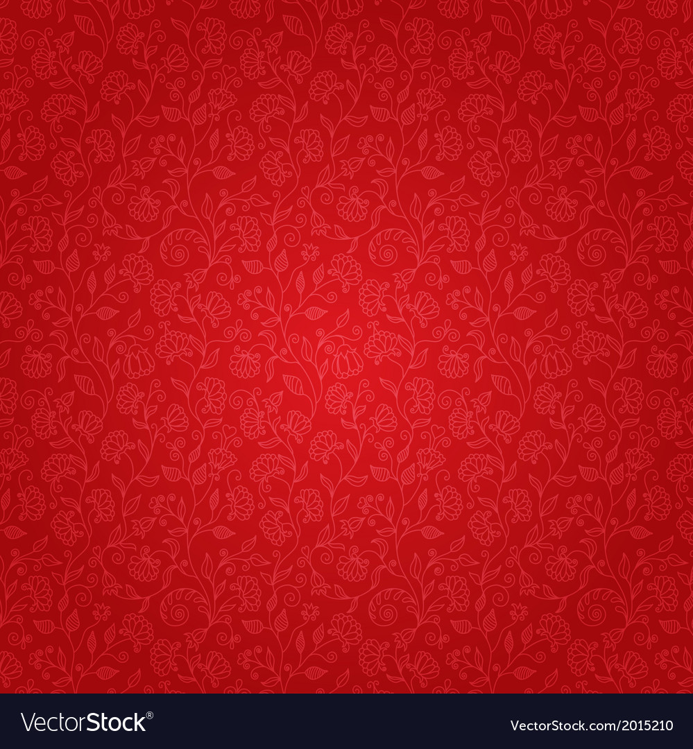 Red Floral Background Royalty Free Vector Image