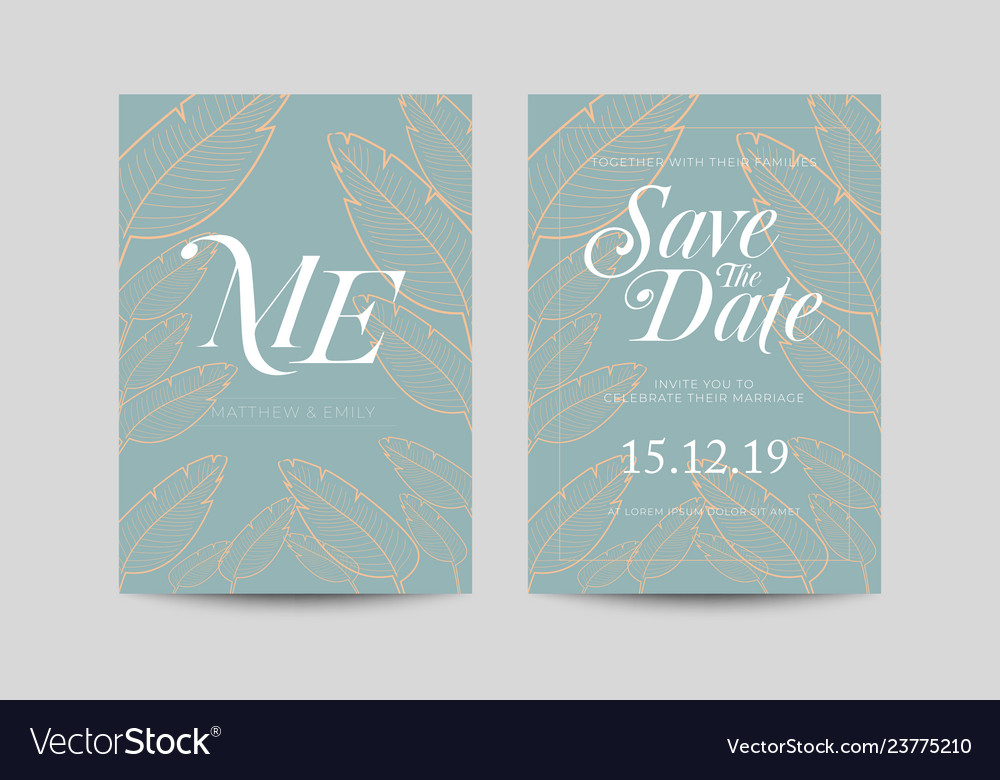Save the date decoration wedding card