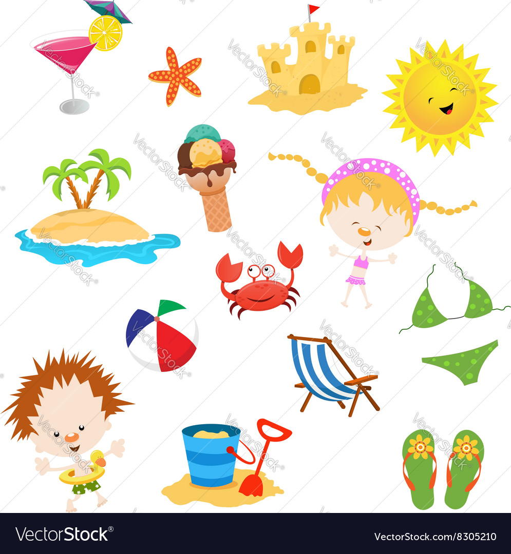 Summer Elements vector image
