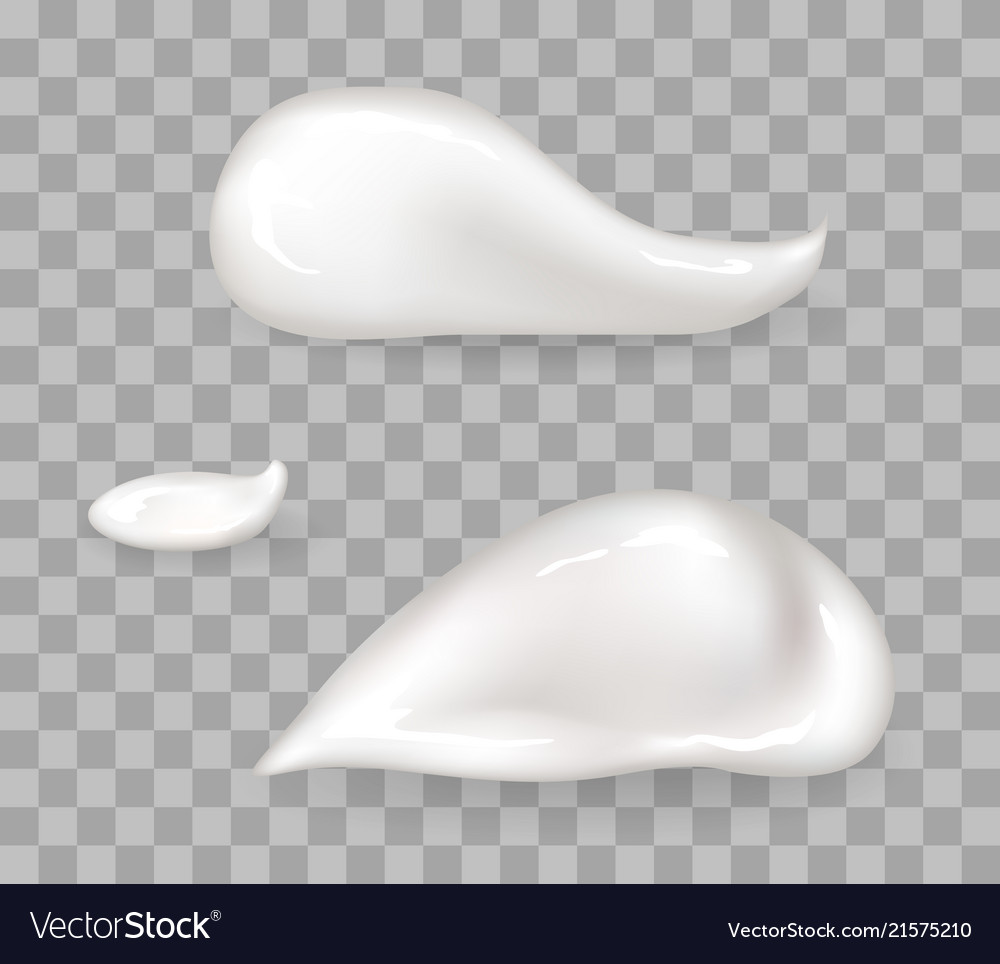 Whipped cream drops big and small size set