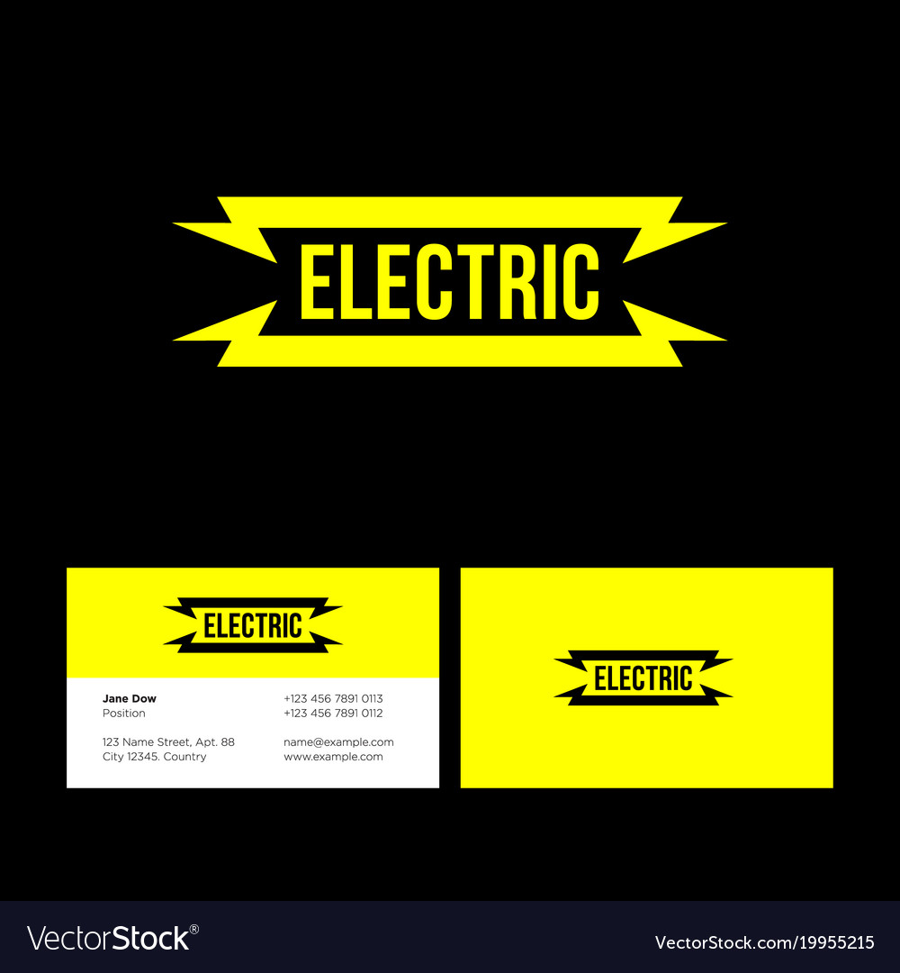 Electric yellow flat logo lightning