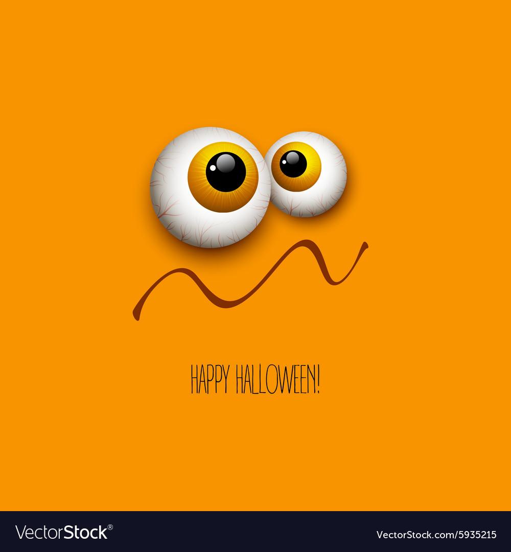 Funny Halloween greeting card monster eyes