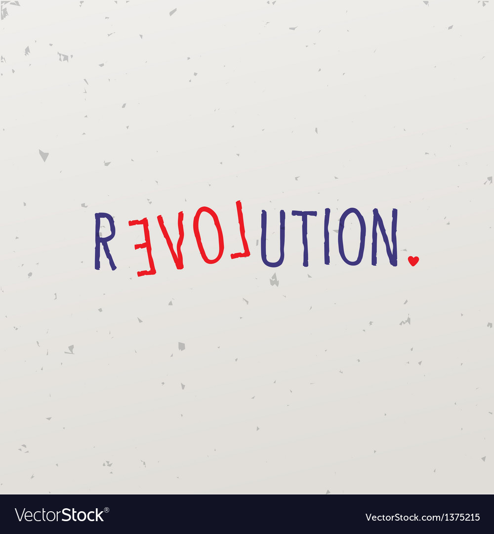 Letters forming word game with revolution