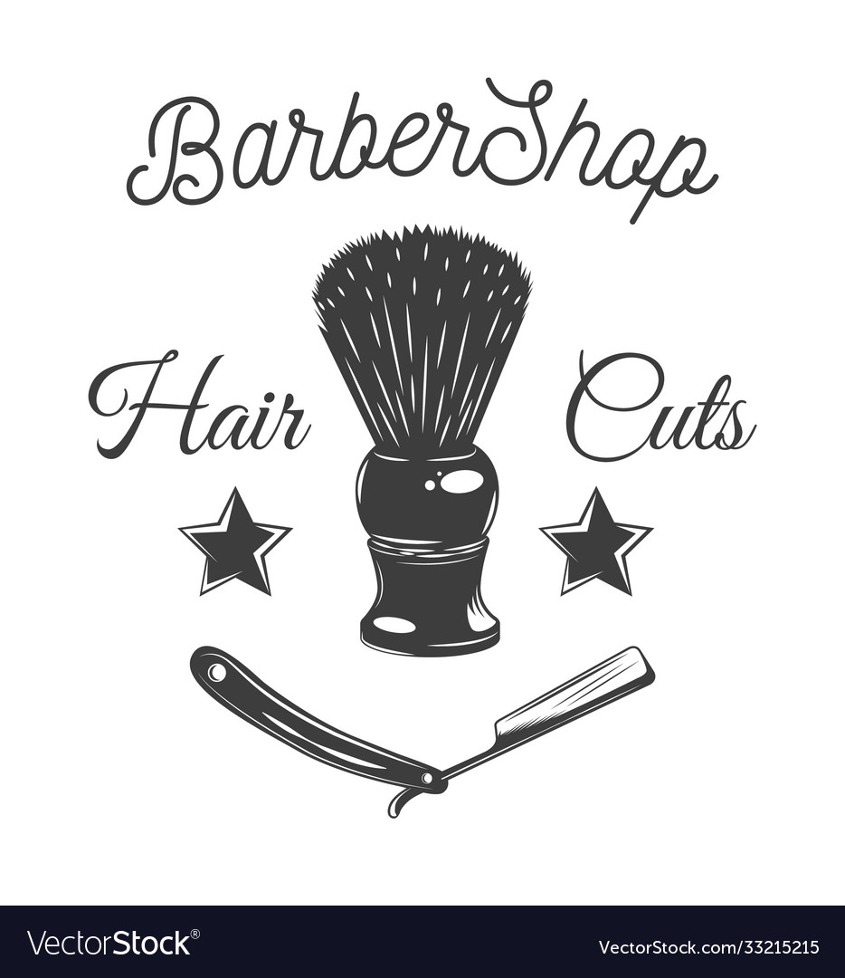 Logotype for barbershop vintage style barber shop
