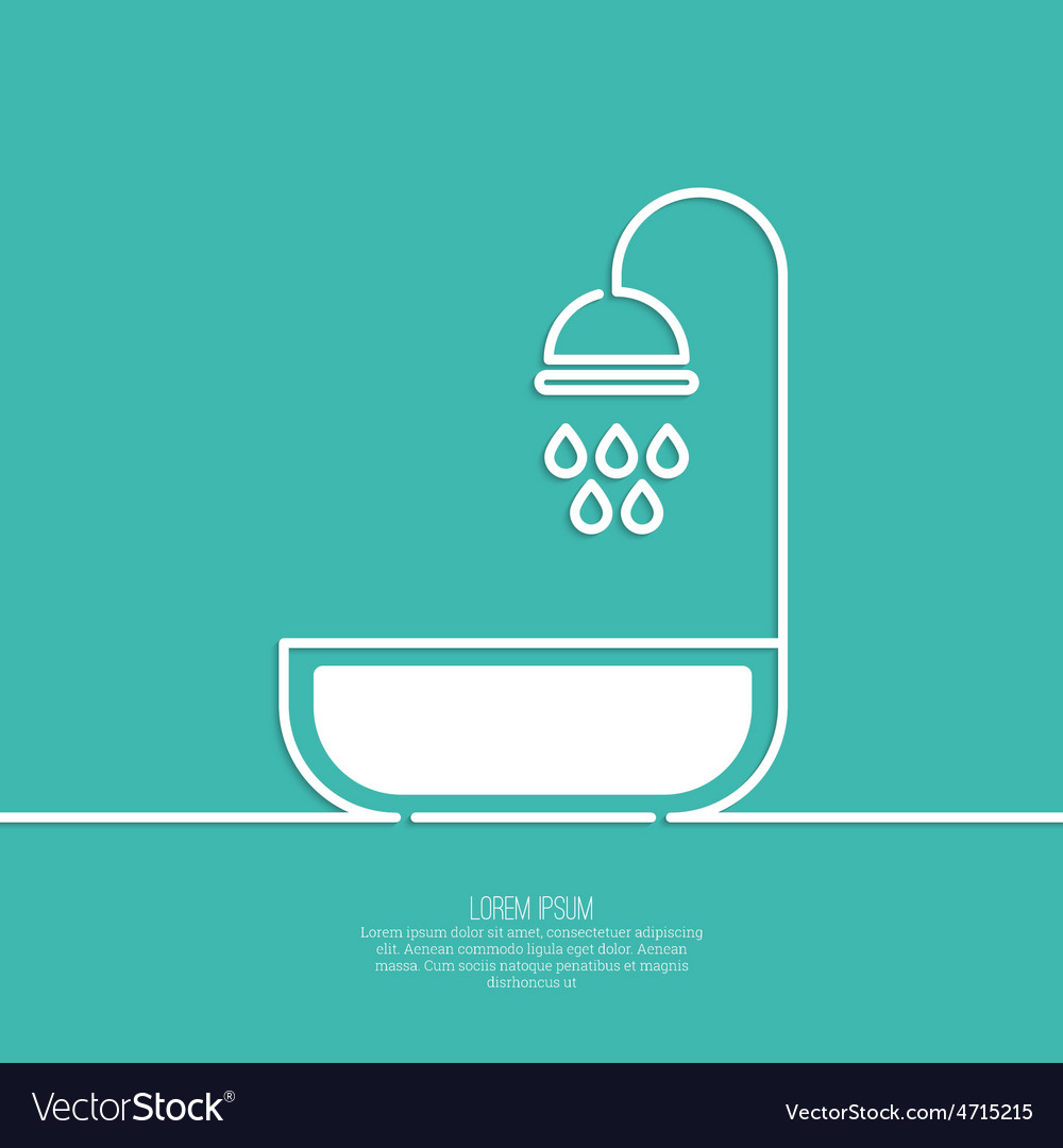 Shower handle with water drops Royalty Free Vector Image