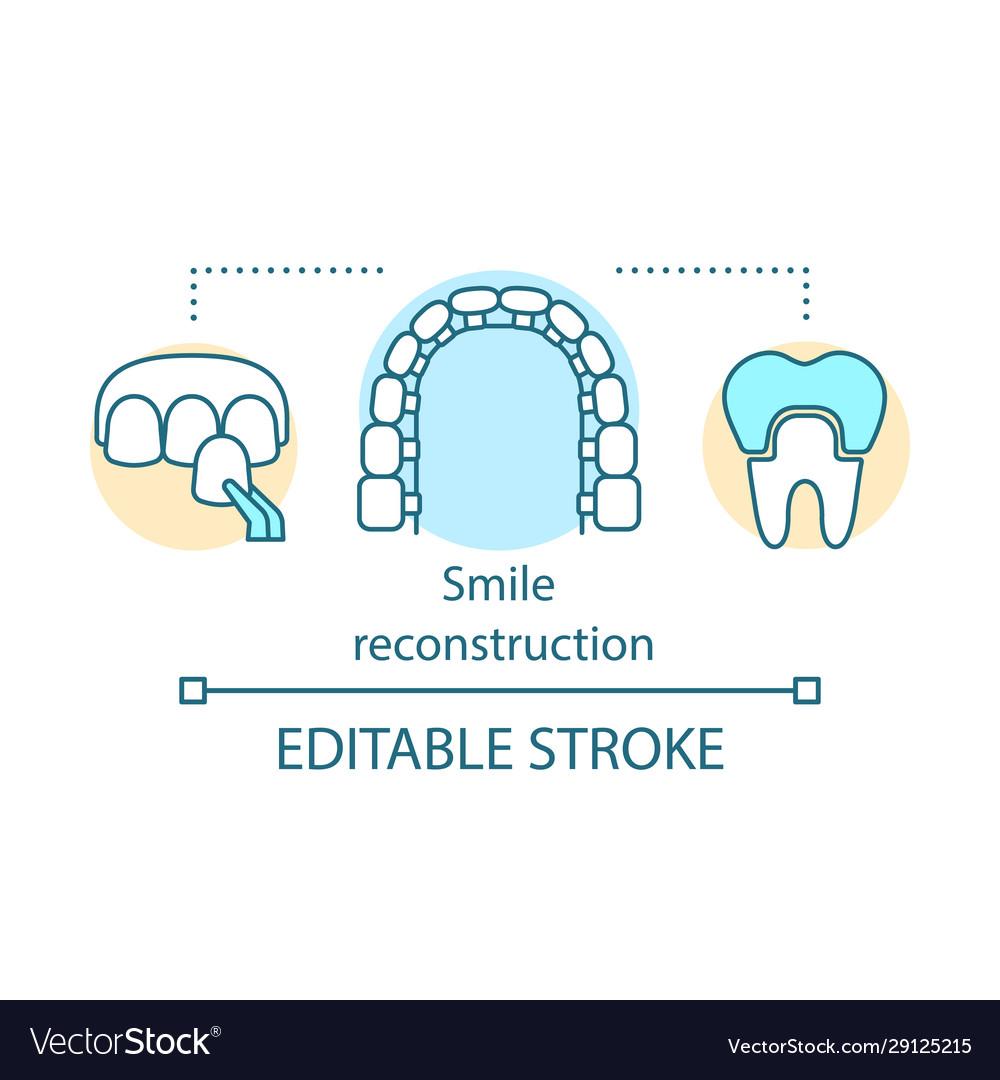 Smile reconstruction concept icon