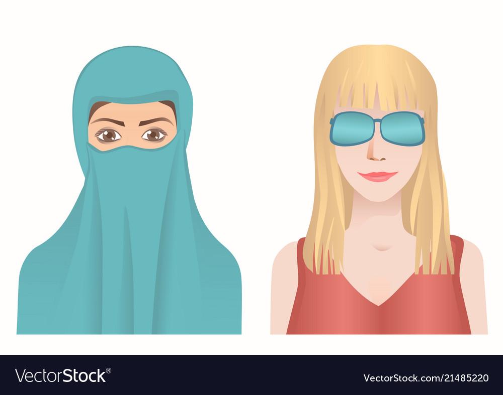 Female avatars set