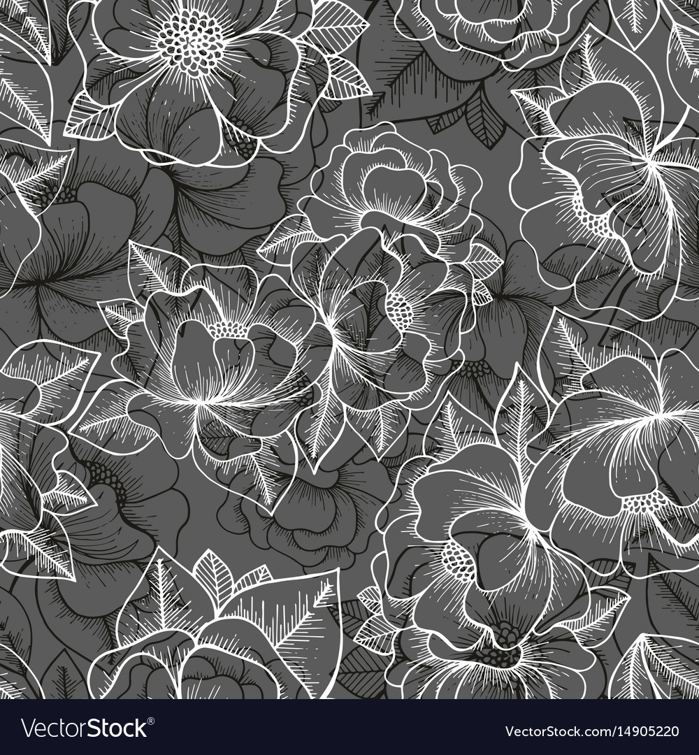 Floral seamless pattern hand drawing pattern