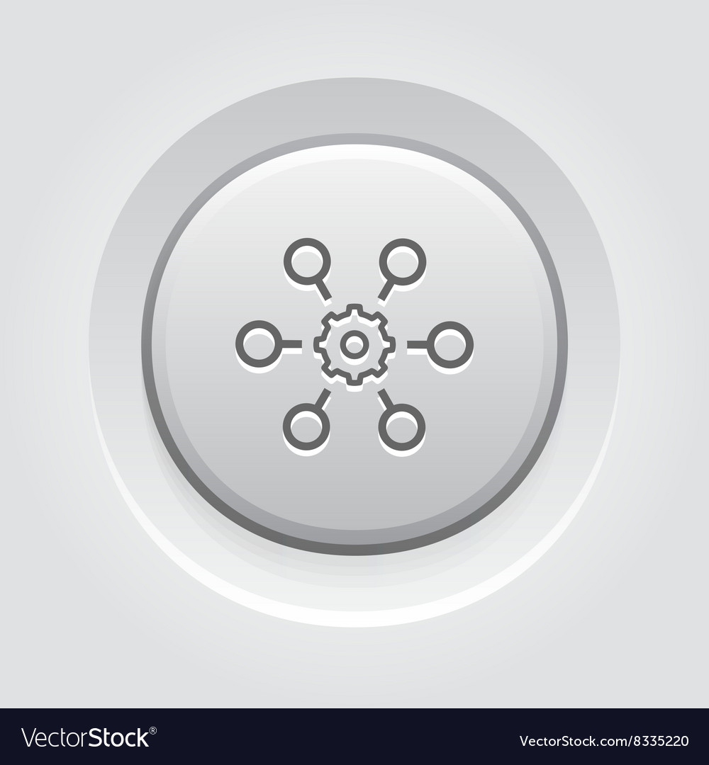 Process Automation Icon Business Concept