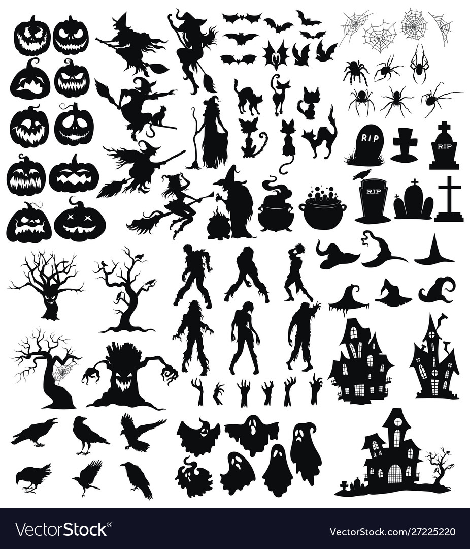 Set elements for halloween a collection of
