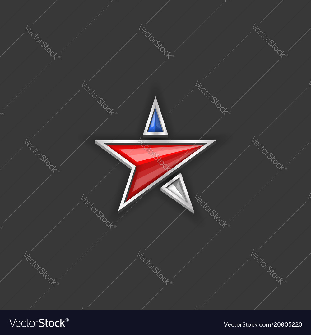 Star logo usa flag colors american independence