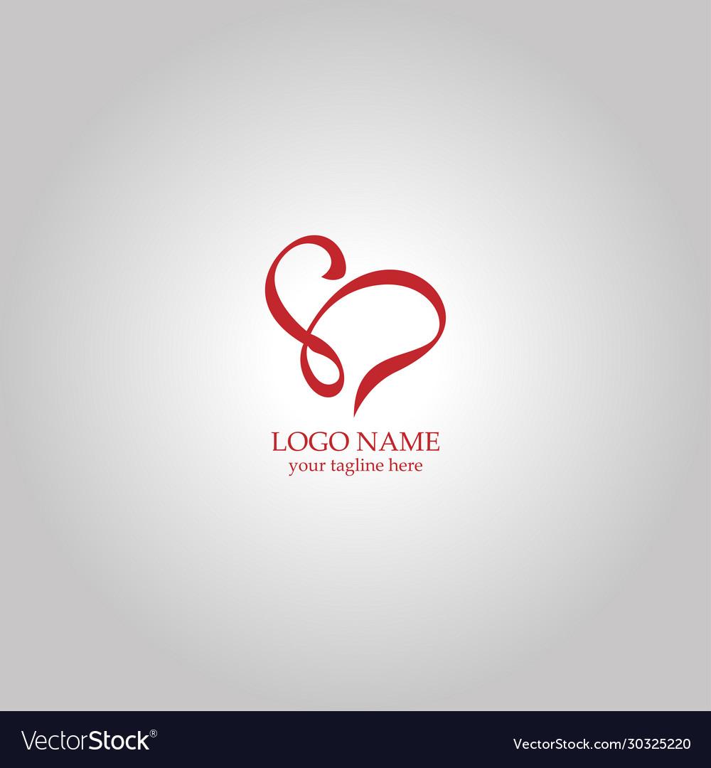 Swirl letter s love logo