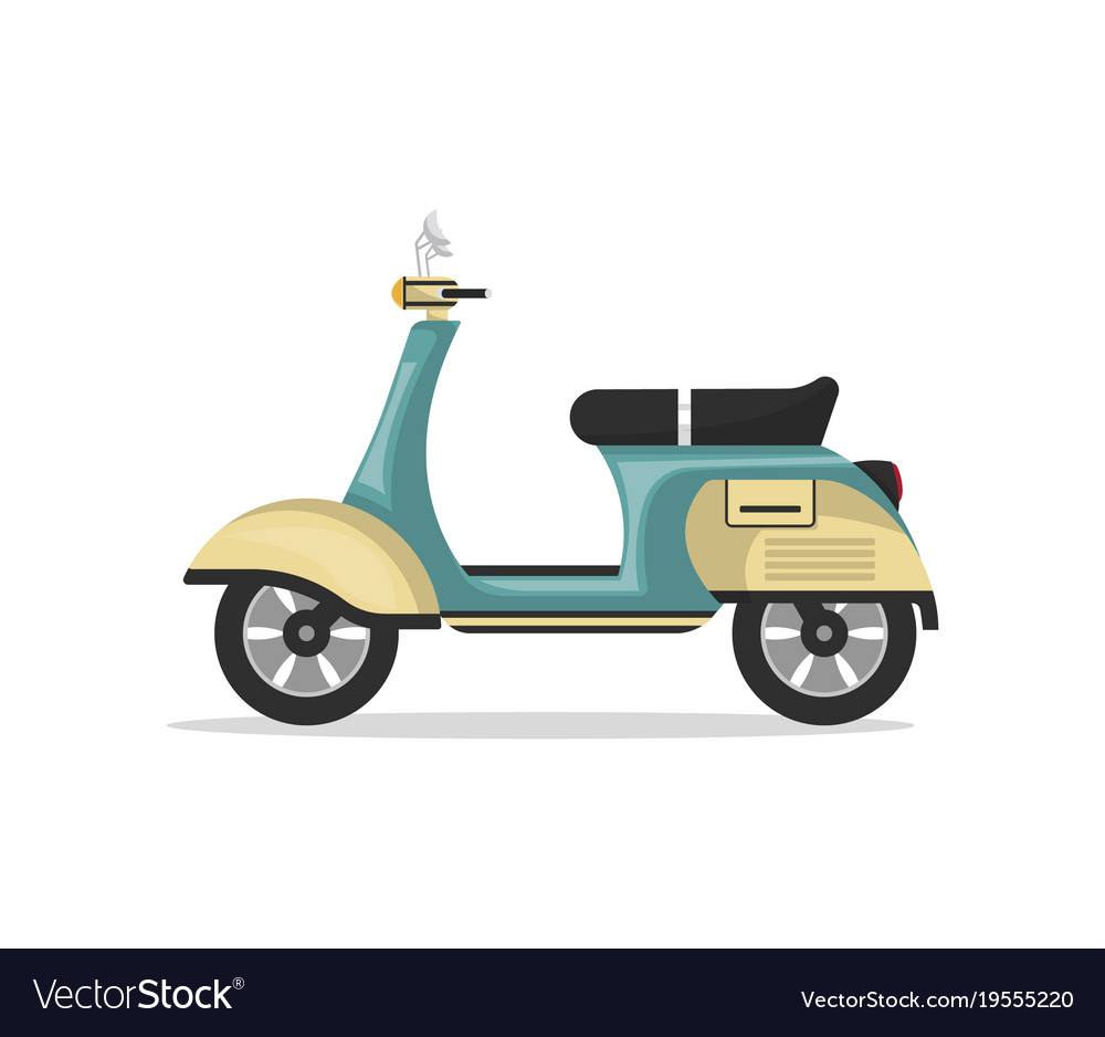Vintage scooter isolated icon