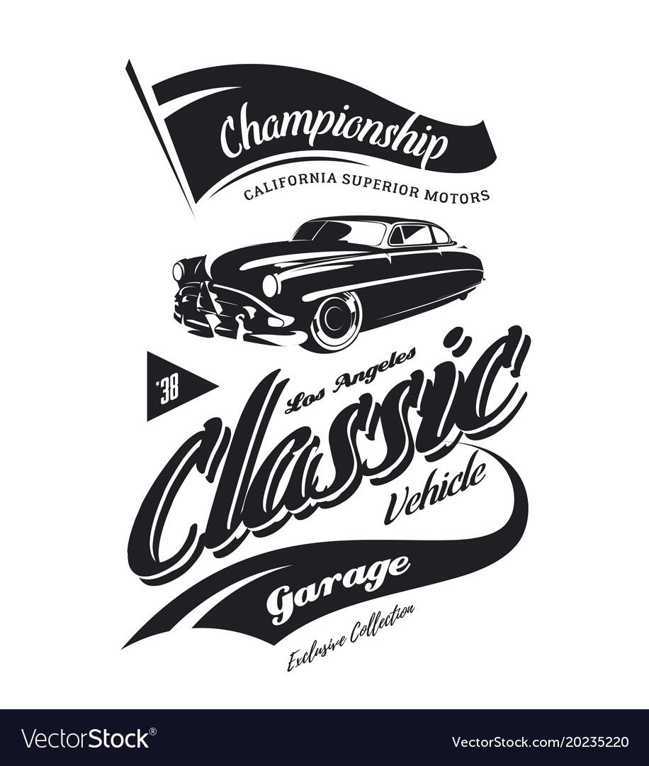Vintage vehicle logo Royalty Free Vector Image
