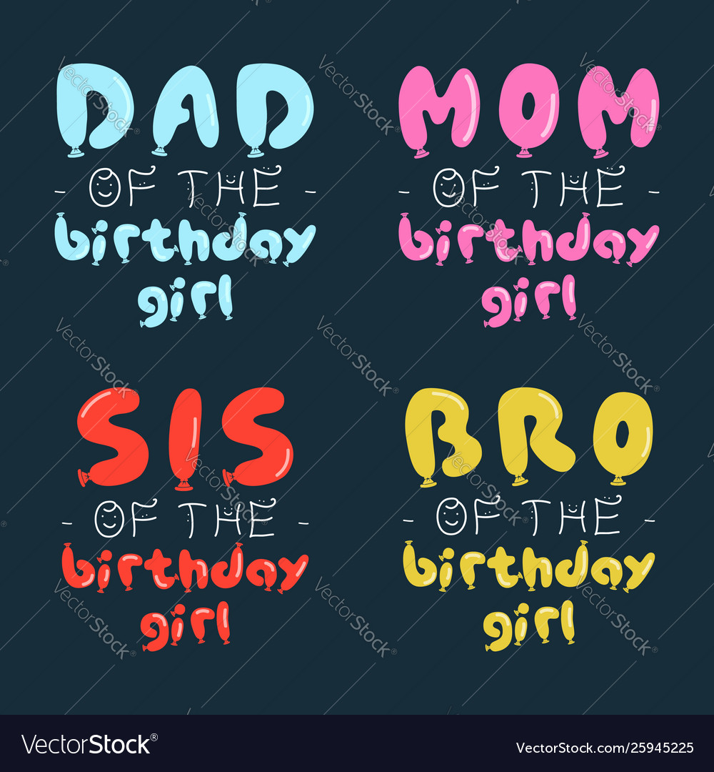 Birthday girl graphic desgins set for t-shirt