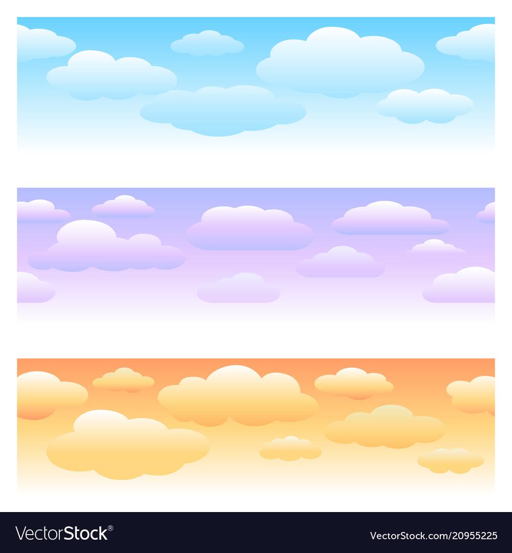 Clouds horizontal seamless patterns