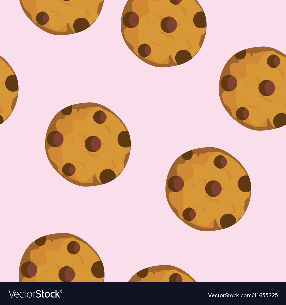 Cookie seamless vector image
