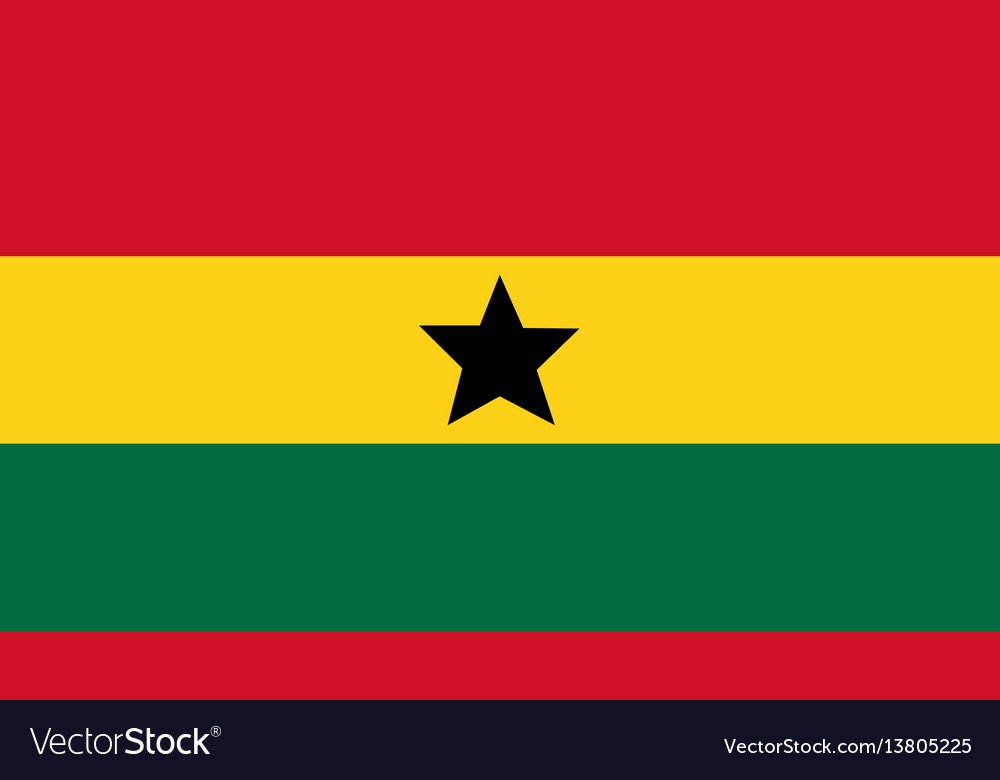 Ghana flag for independence day and infographic