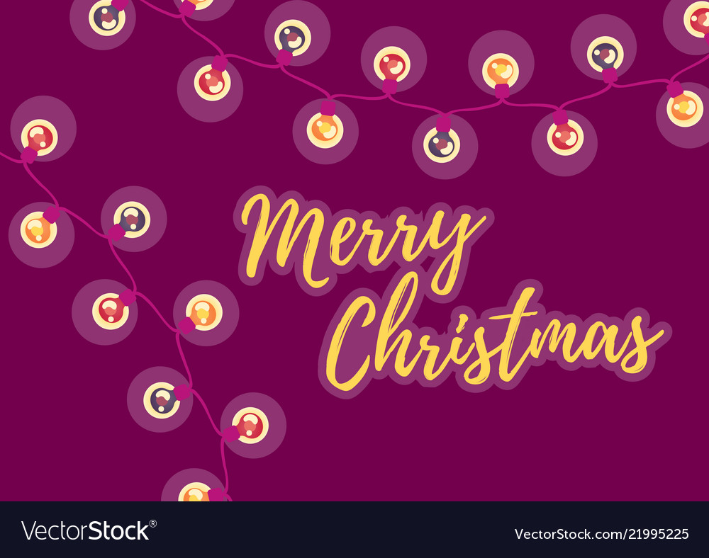 Merry christmas winter holiday postcard with the