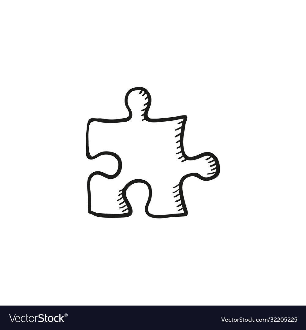 Sketch jigsaw puzzle piece