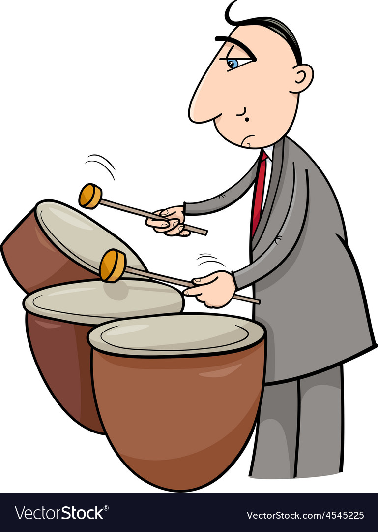 Timpani musician cartoon