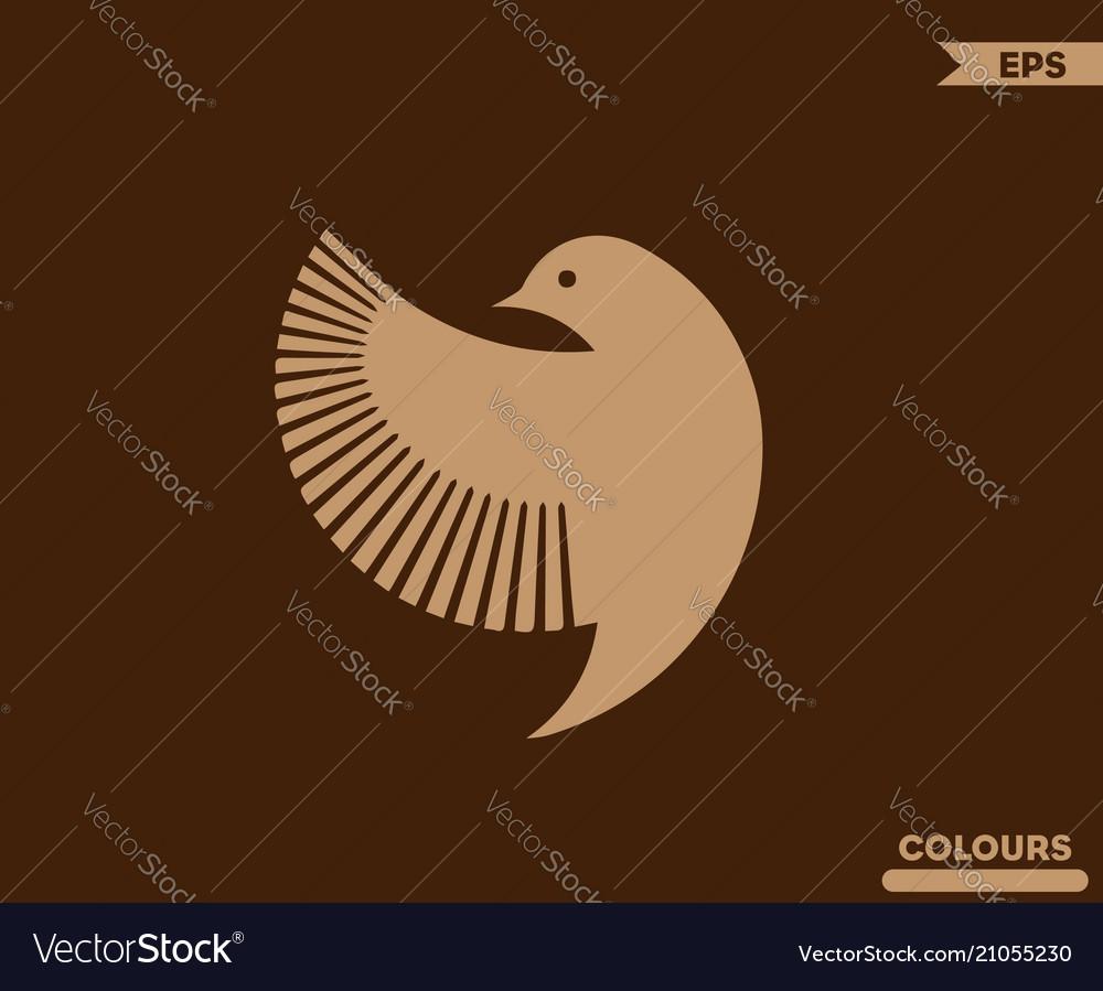 Bird side logo vector image
