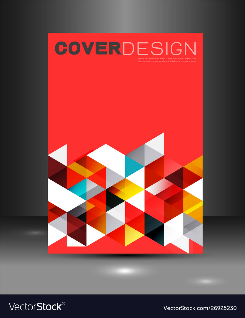Cover template with triangle geometry overlapping