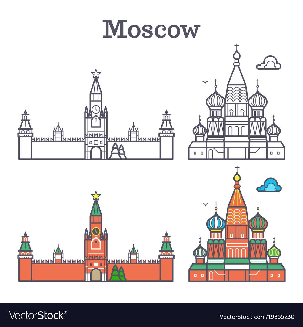 Moscow linear russia landmark soviet buildings