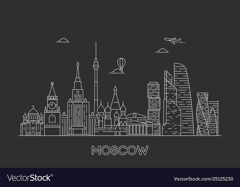 Moscow skyline russia