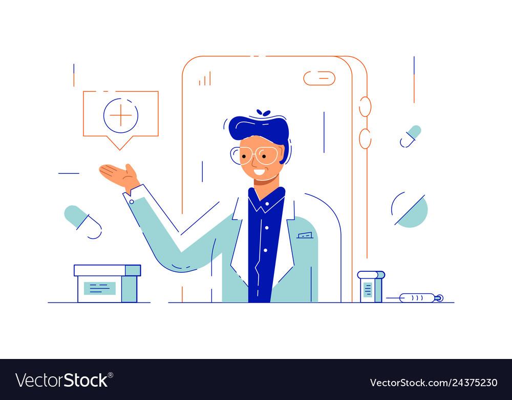 Online doctor via internet application