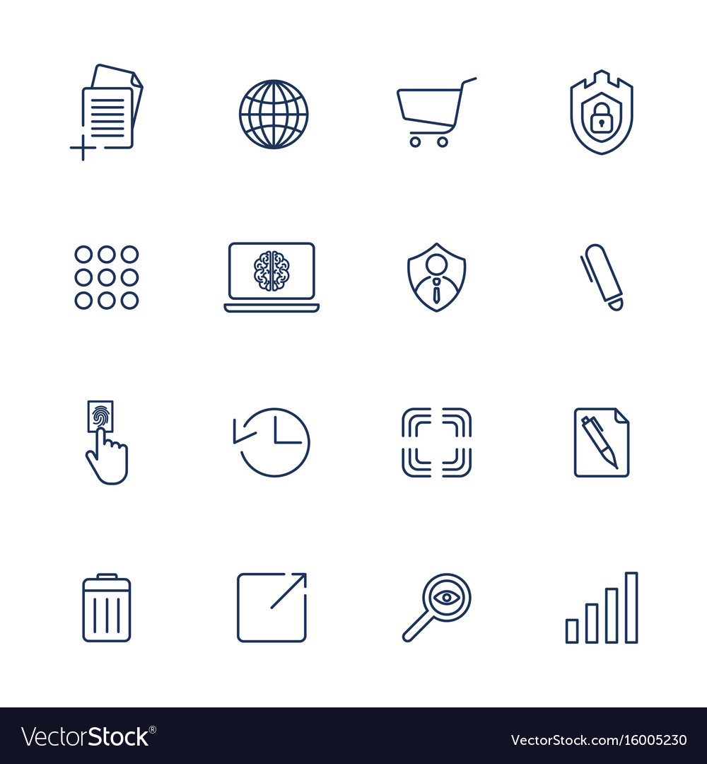 Simple icons for app programs and sites set with