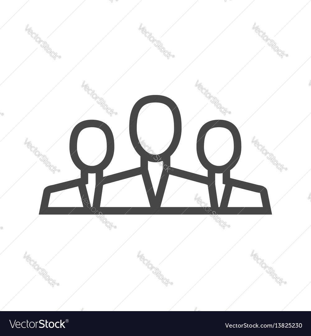 Teamwork thin line icon