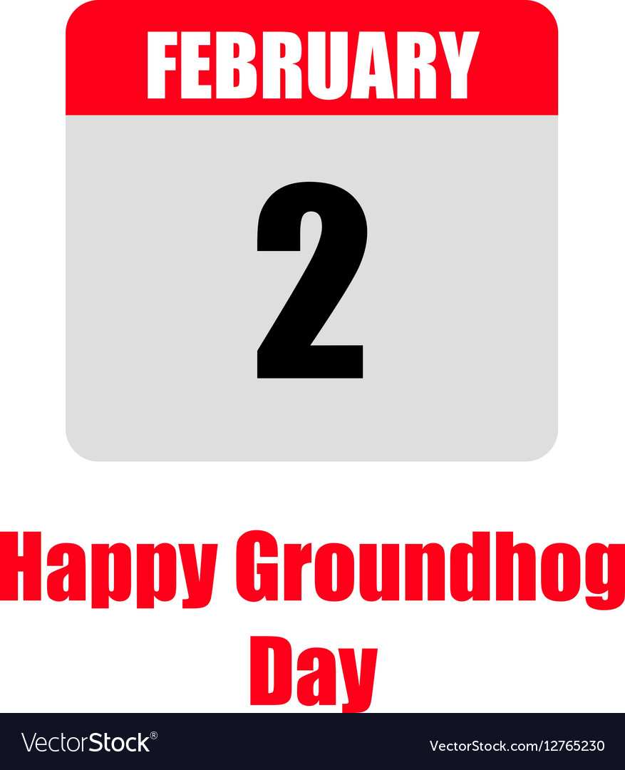 Template Calendar For Groundhog Day Royalty Free Vector