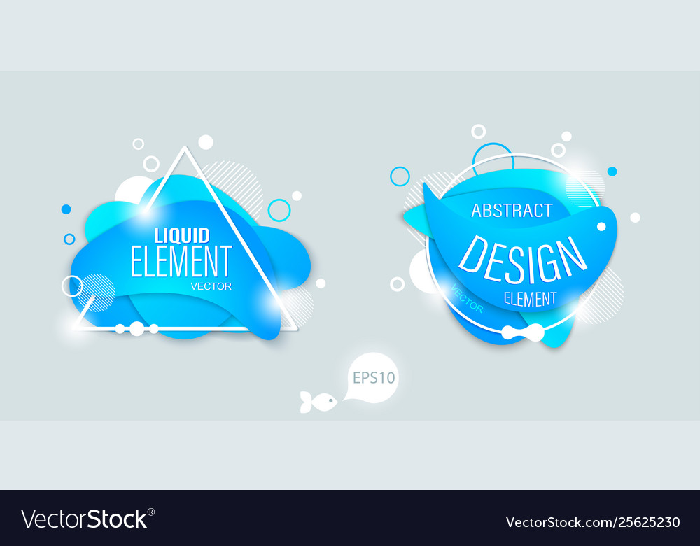The modern liquid form design elements