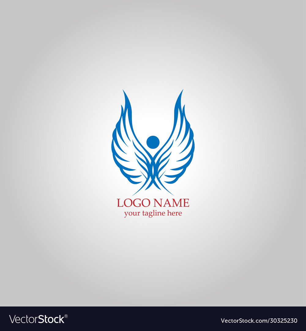 Wing fly logo concept