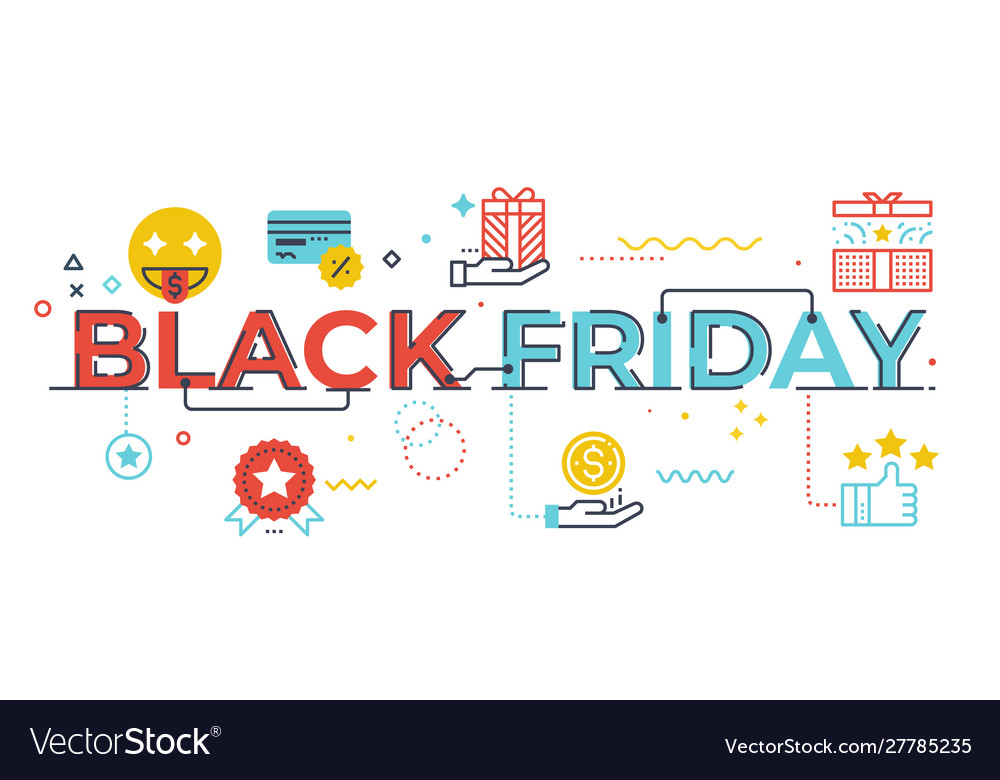 Black friday word lettering
