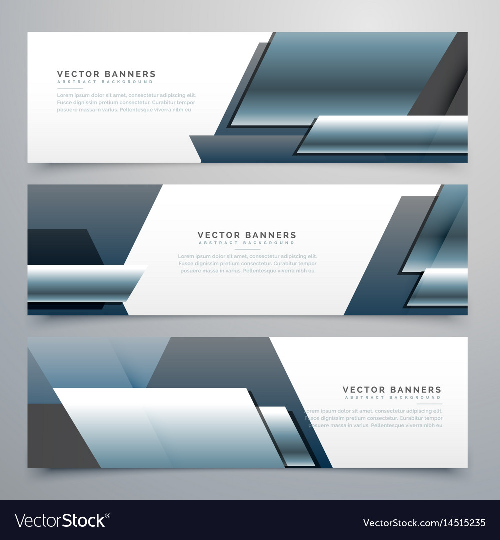 Business banners set of three professional headers