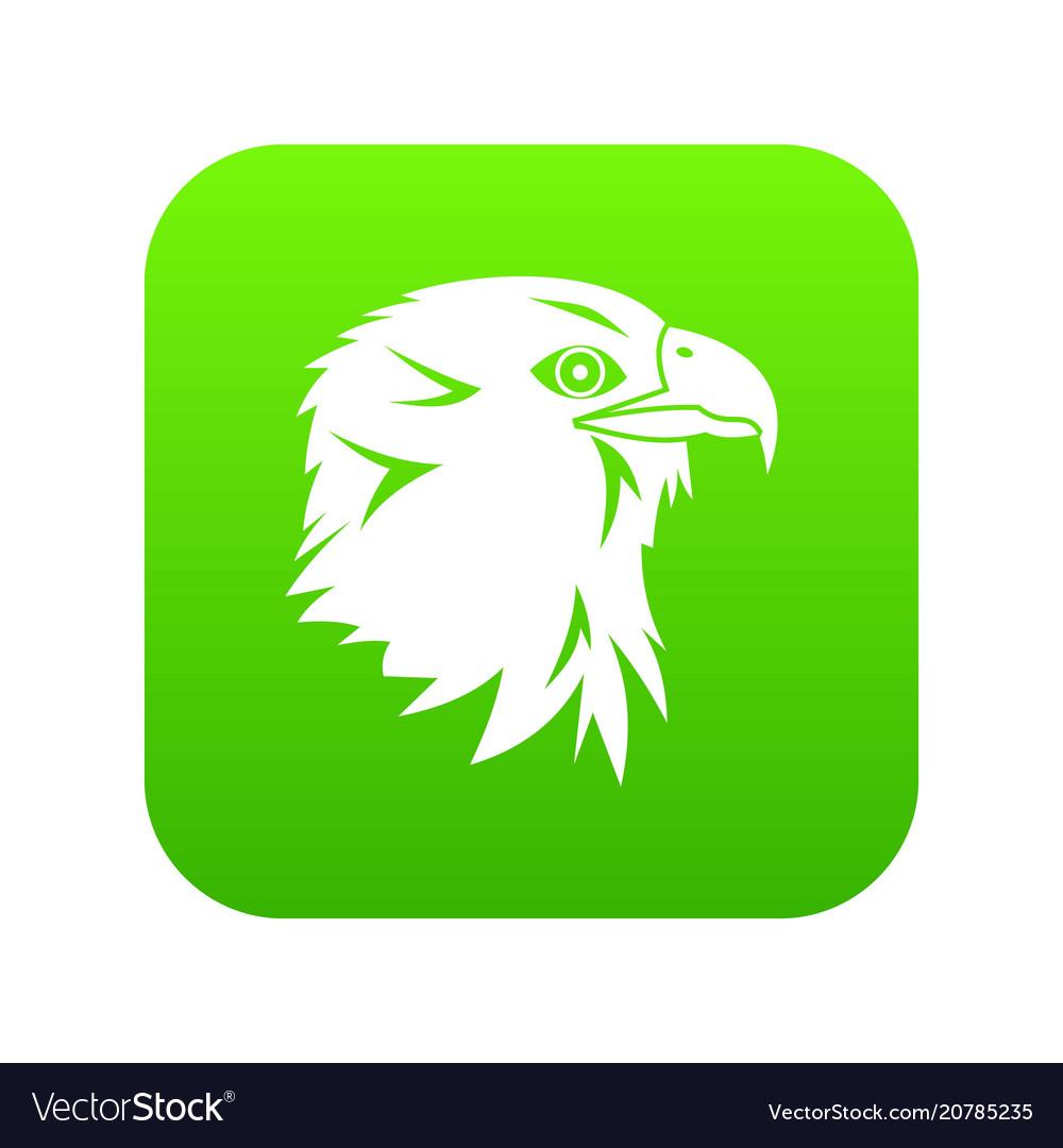 Eagle icon digital green
