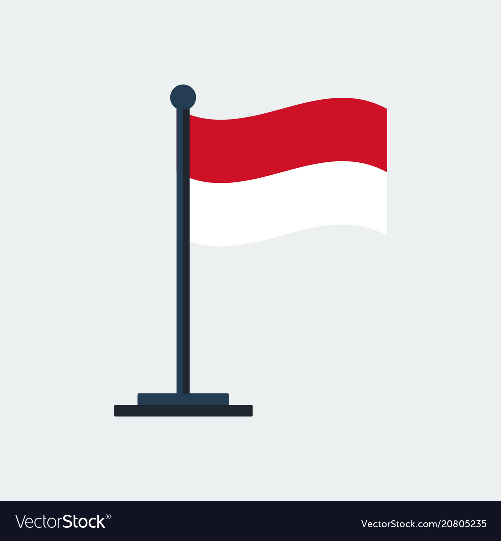 Flag of indonesiaflag stand
