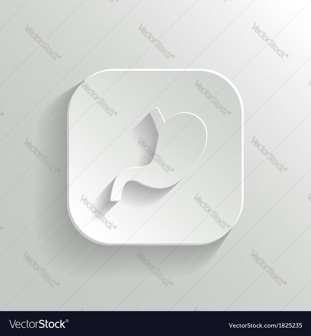 Stomach icon - white app button