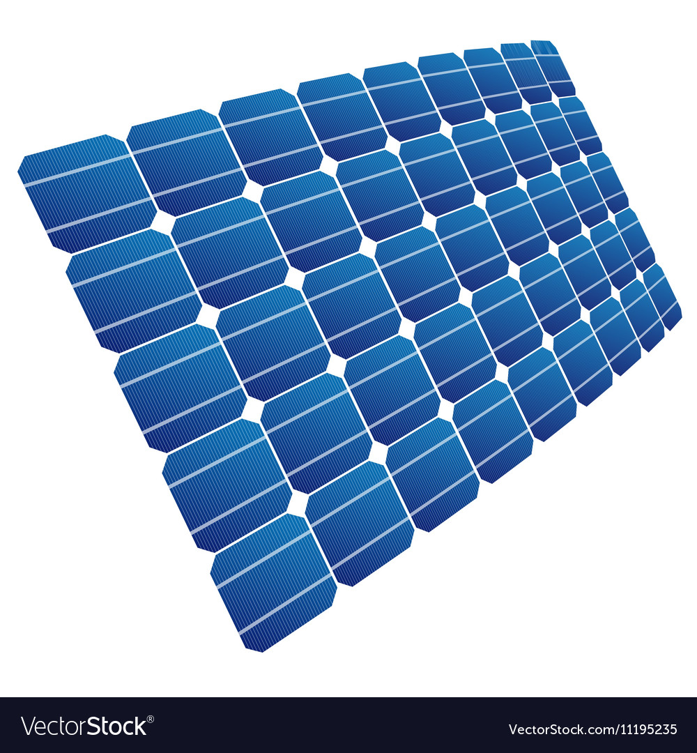 The solar cell shown in perspective