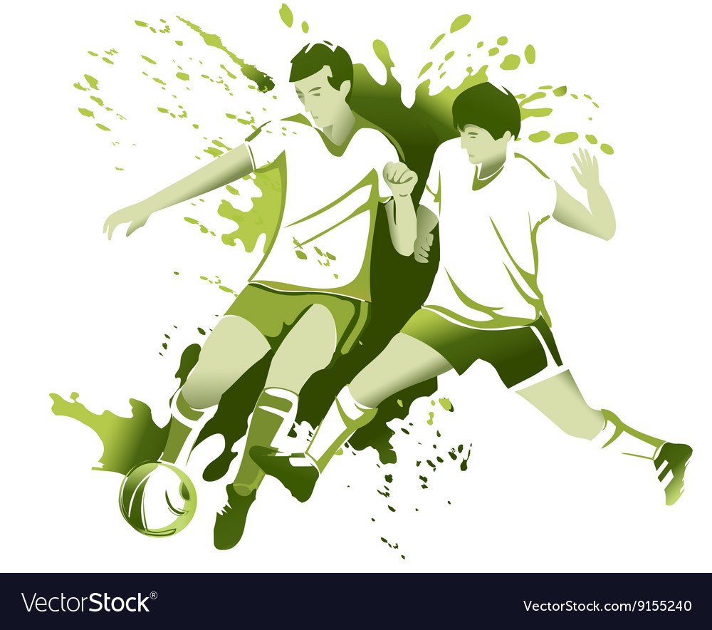 Abstract soccer players
