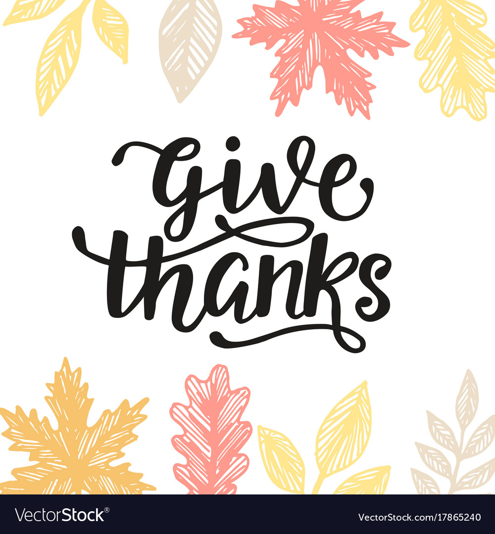 Give thanks thanksgiving day poster